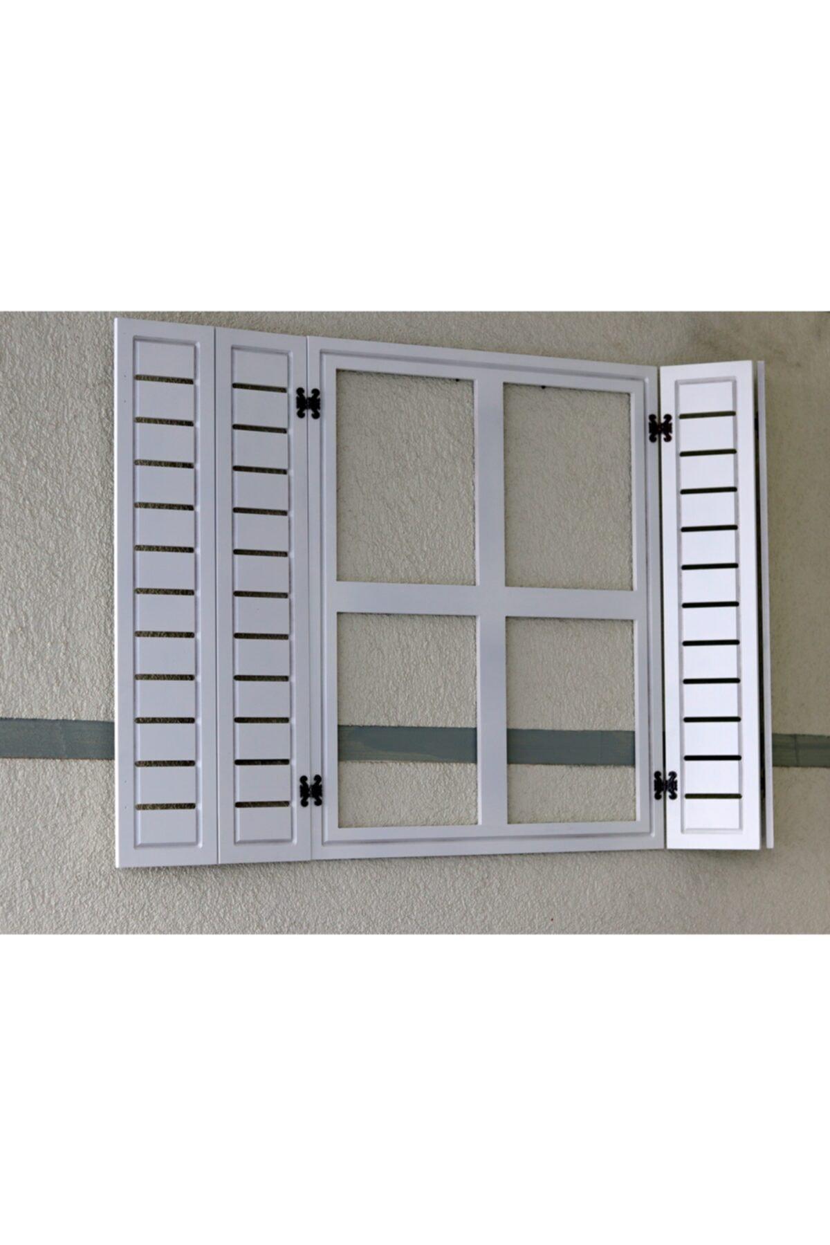 noylens Dekor Panjur Ahşap Pencere Model Aynalık Hediyelik Bahçe Oyuncak Duvar Süsü Çocuk Odası Dekor 2