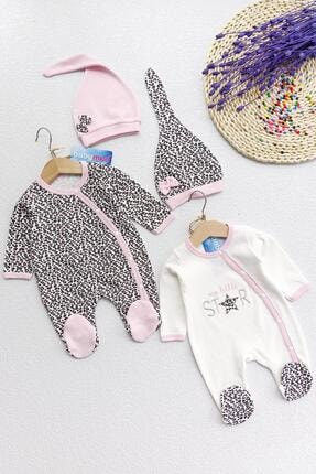 Babymod Leopar Desenli Uzun Kollu Ikili Kız Bebek Tulum Takımı