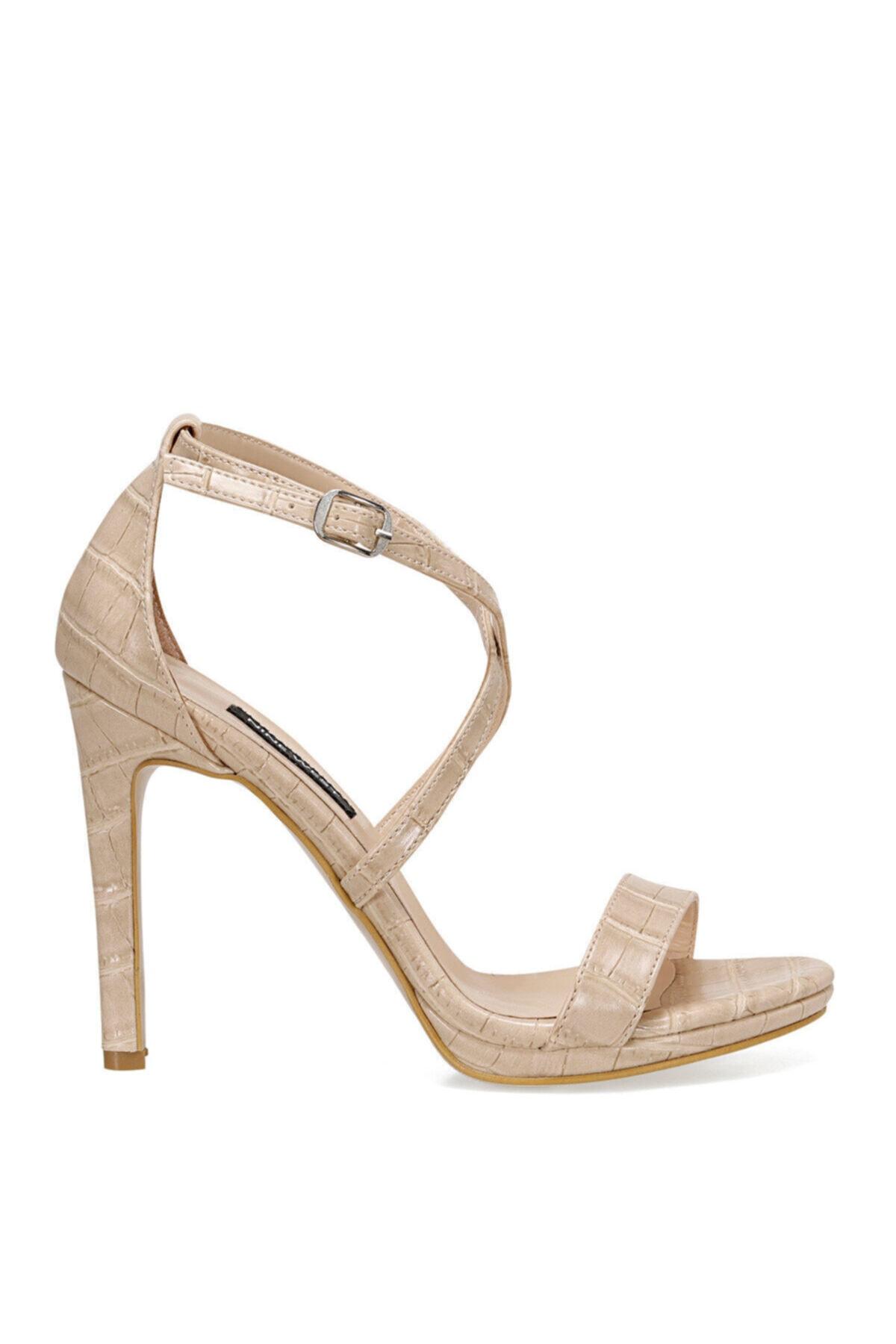 Nine West Celan2 Krem Kadın Topuklu Sandalet 1