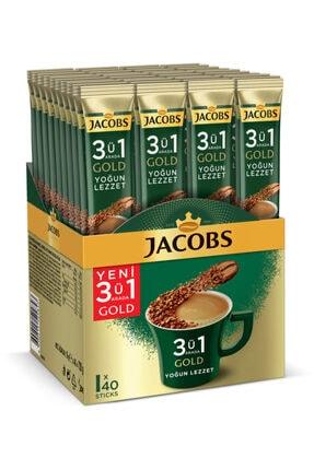 Jacobs 3ü1 Arada Gold Kahve Karışımı Yoğun Lezzet 40 Adet
