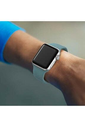 Bilişim Aksesuar Apple Watch 42 44 Mm Silikon Kordon Çamyeşili
