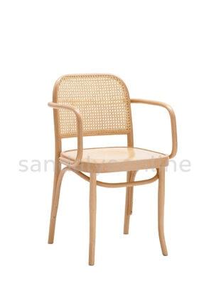 Sandalye Online Lina Hazeranlı Sandalye Natural Kolçaklı