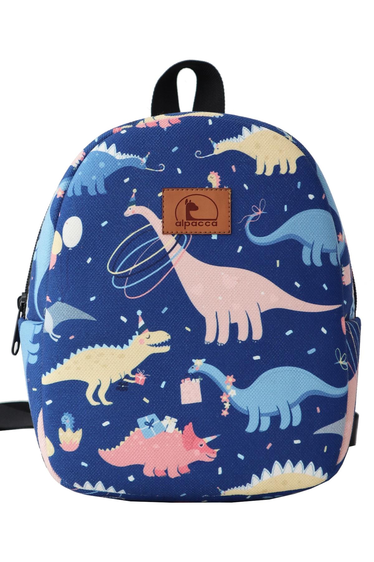 Alpacca Çocuk Dinozor Partisi Ayakkabı Çanta Kombin 2