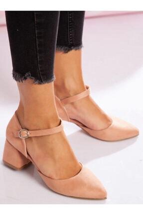 ayakkabıhavuzu Kadın Topuklu Ayakkabı - Pudra Süet - Ayakkabı Havuzu