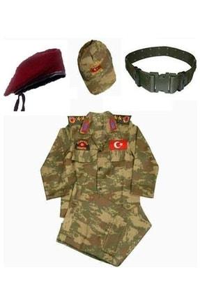 DEHAMODA Erkek Çocuk Bordo Bereli  Asker Komando Kıyafeti