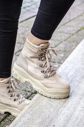 Wenti Shoes Wenti Ws351 Kadın Günlük Bot - Bej Süet