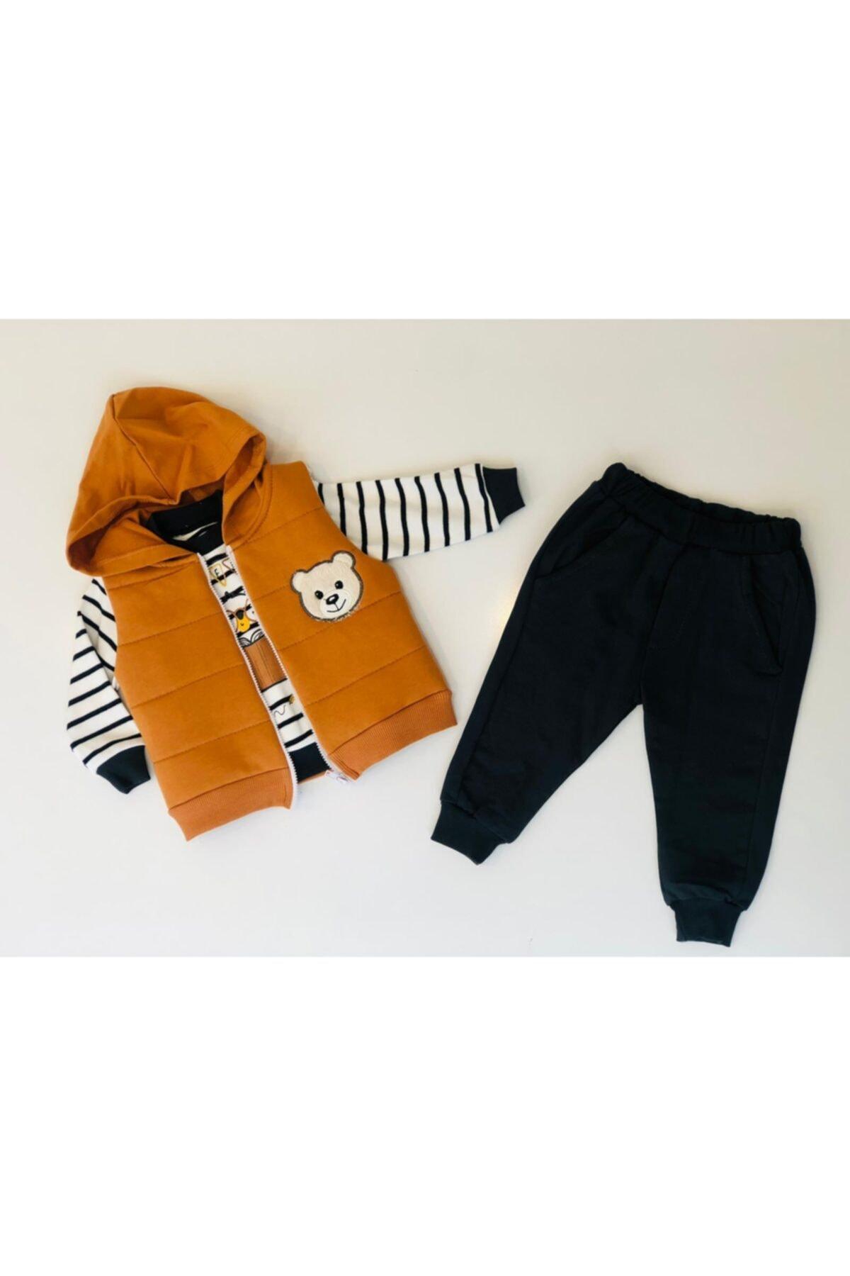 Hippıl Baby Bebek Yelekli Takım 1