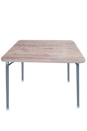 Depolife Katlanır Ayaklı Pratik Mutfak Balkon Ders Çalışma Masası Katlanan Portatif Piknik Masa 60x100cm