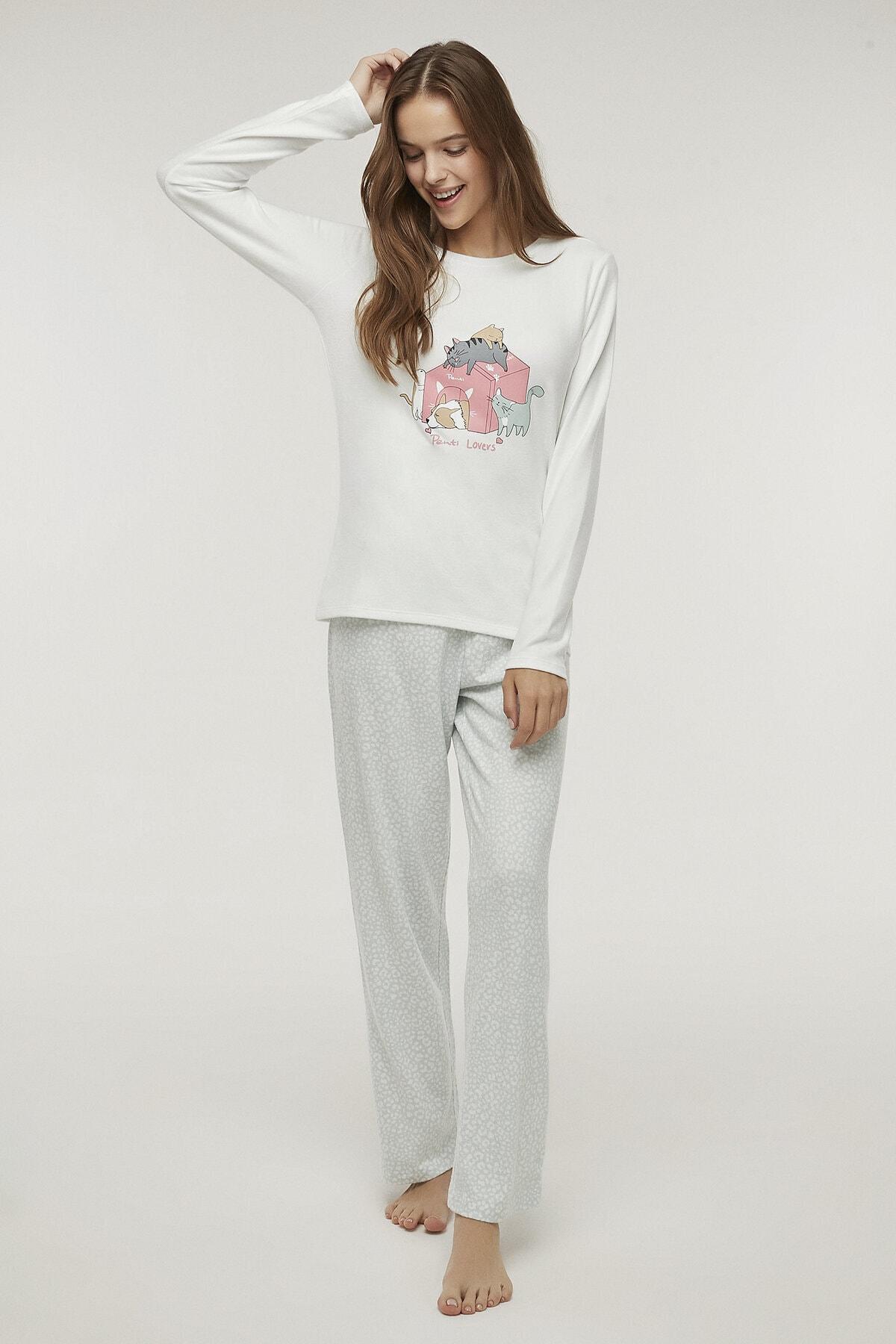 Penti Çok Renkli Pet Love Termal Pijama Takımı 2