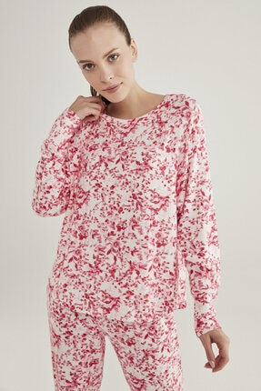 Penti Pembe Melanj Pink Flowers Sweatshirt