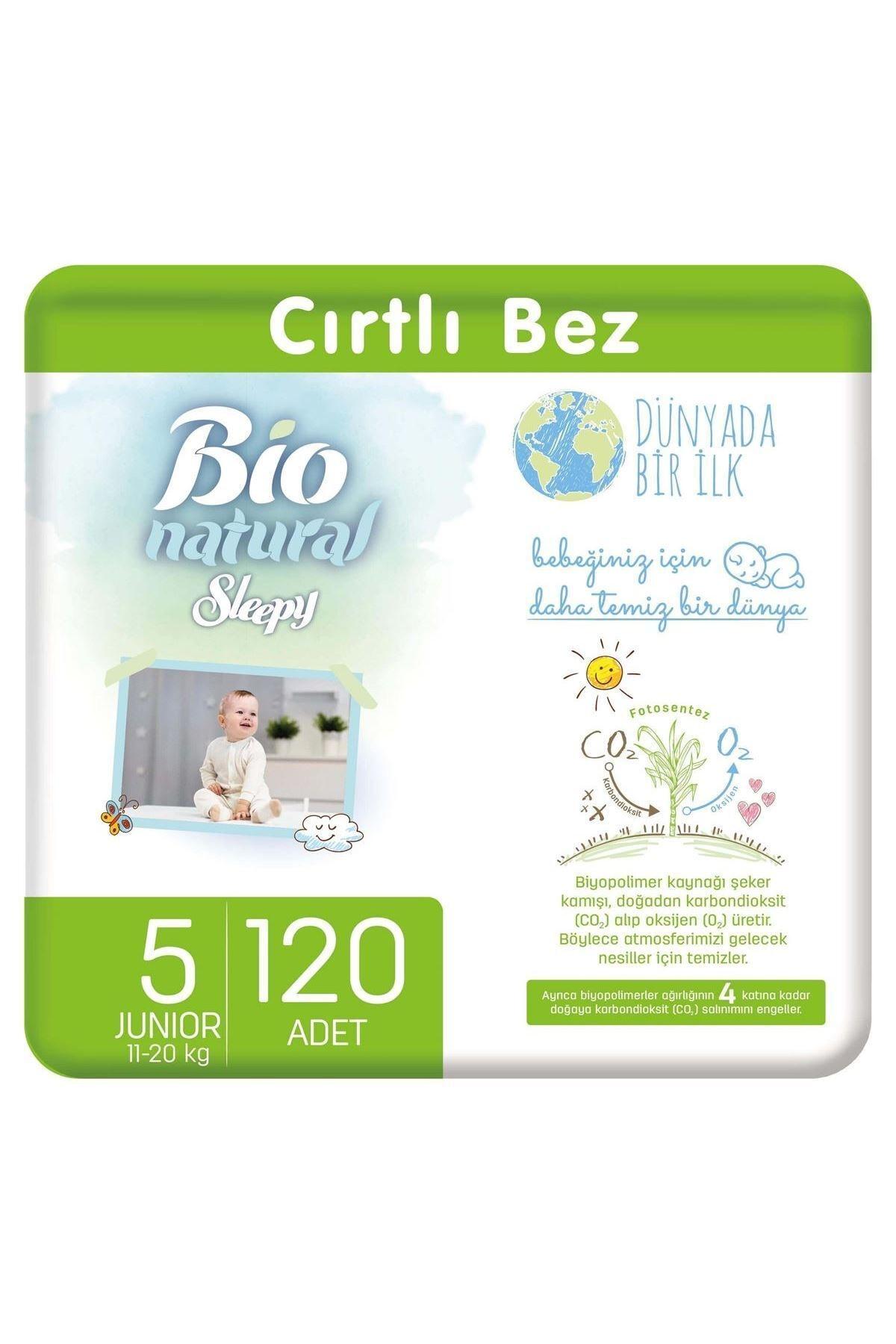 Sleepy Bio Natural Bebek Bezi 5 Numara Junior 120 Adet 1