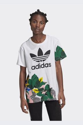 adidas Kadın Beyaz Her Studio London Loose T-shirt Ge4315