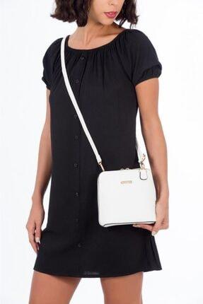 ESPARDİLE Kadın Beyaz P Model Omuz Çantası