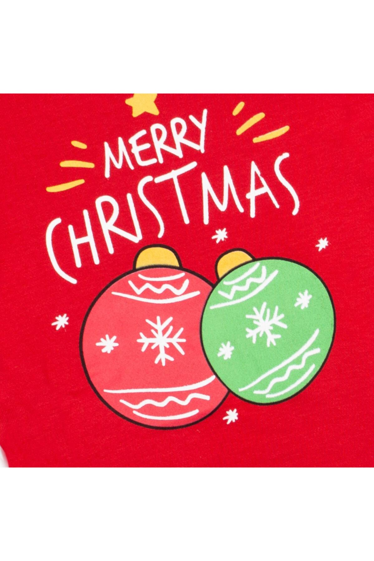 Vipbebe Merry Cristmas Yılbaşı Temalı Şapkalı Üçlü Takım 2
