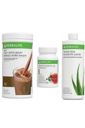 Herbalife Klasik Set Shake Çikolata + Aloe + Bitkisel Çay