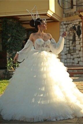 Çağrı Şengül & Serdar Yüzer Moda Kadın Kabarık Prenses Model Kabarık Gelinlik