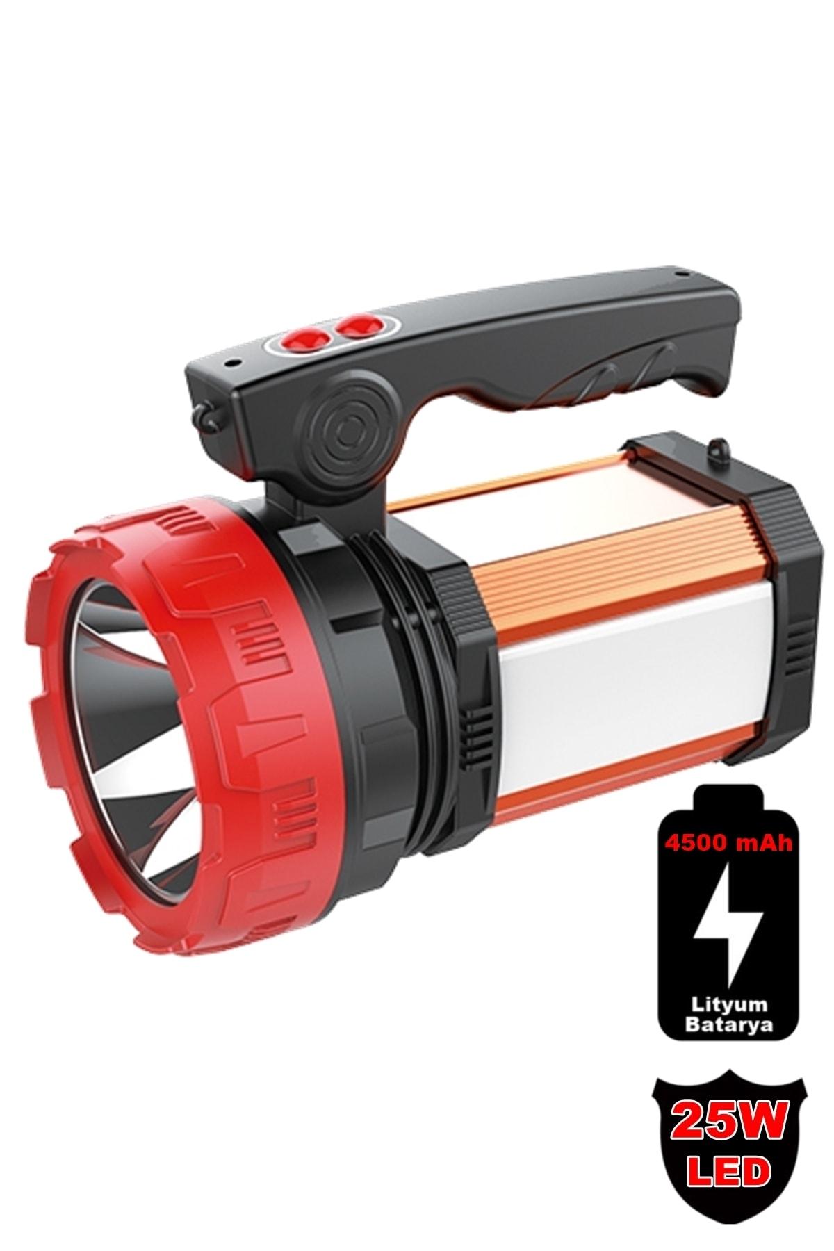 yopigo 8100-yp 25w Ultra Güçlü Şarjlı El Feneri Projektör Sos+powerbank+usb Çıkış+25w Yan Aydınlatma 1