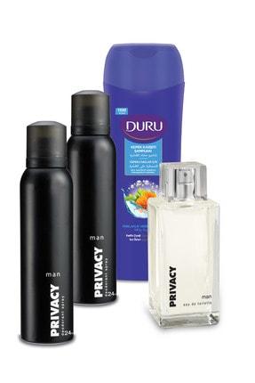 Privacy Edt Man 100ml Ve Deodorant 2x150ml Ve Duru Şampuan 600ml