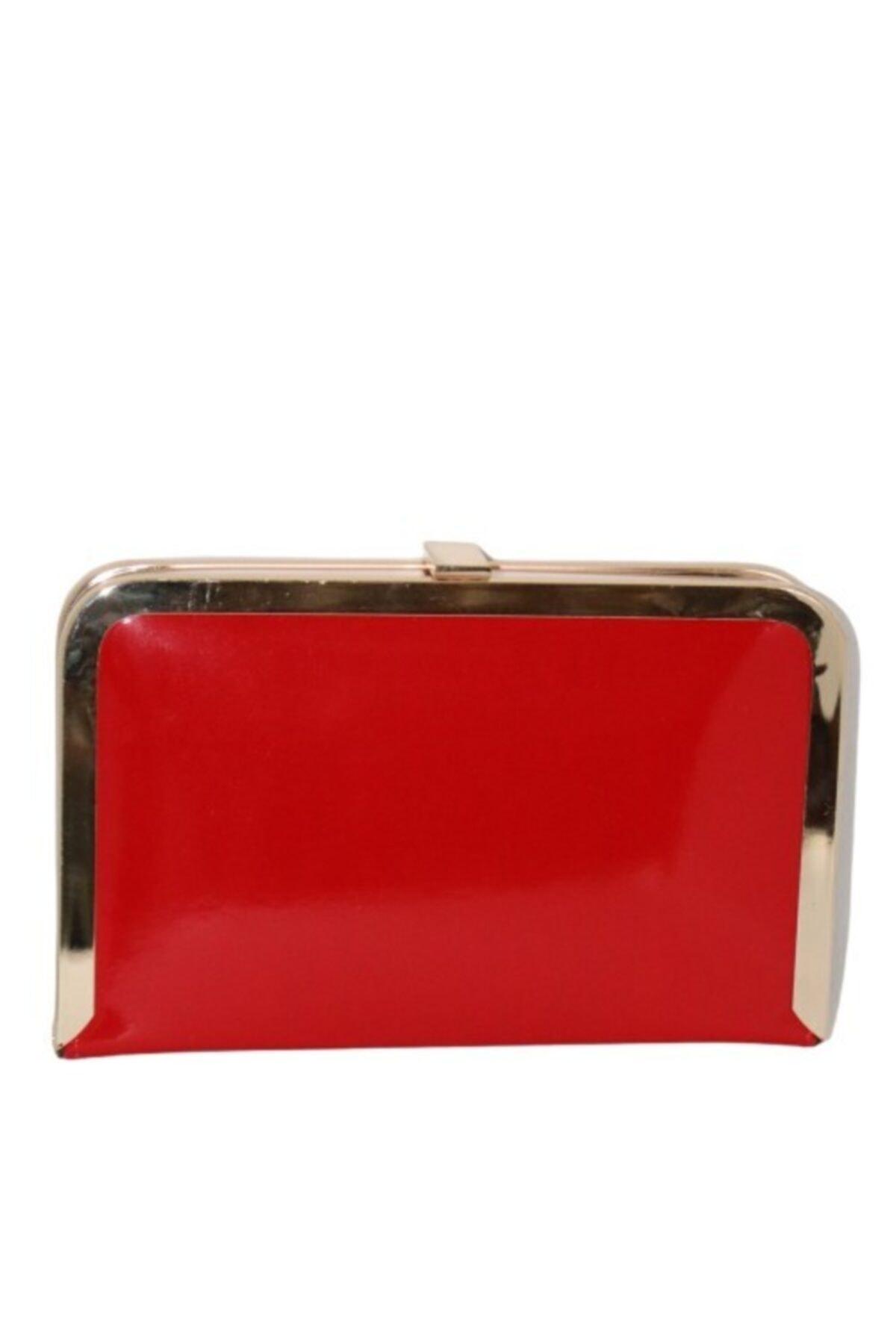 weem bag Tablet Kırmızı Rugan Abiye Çanta 2
