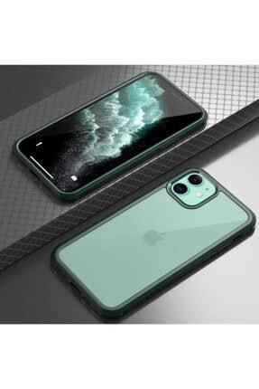 Sunix Apple Iphone 11 Kılıf Zore Dor Silikon Temperli Cam Kapak