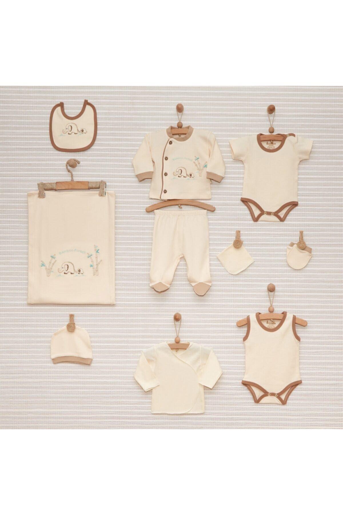 Nenny Baby Anne Fil Erkek Bebek %100 Pamuk Organik 10 Parça Hastane Çıkış Seti 1