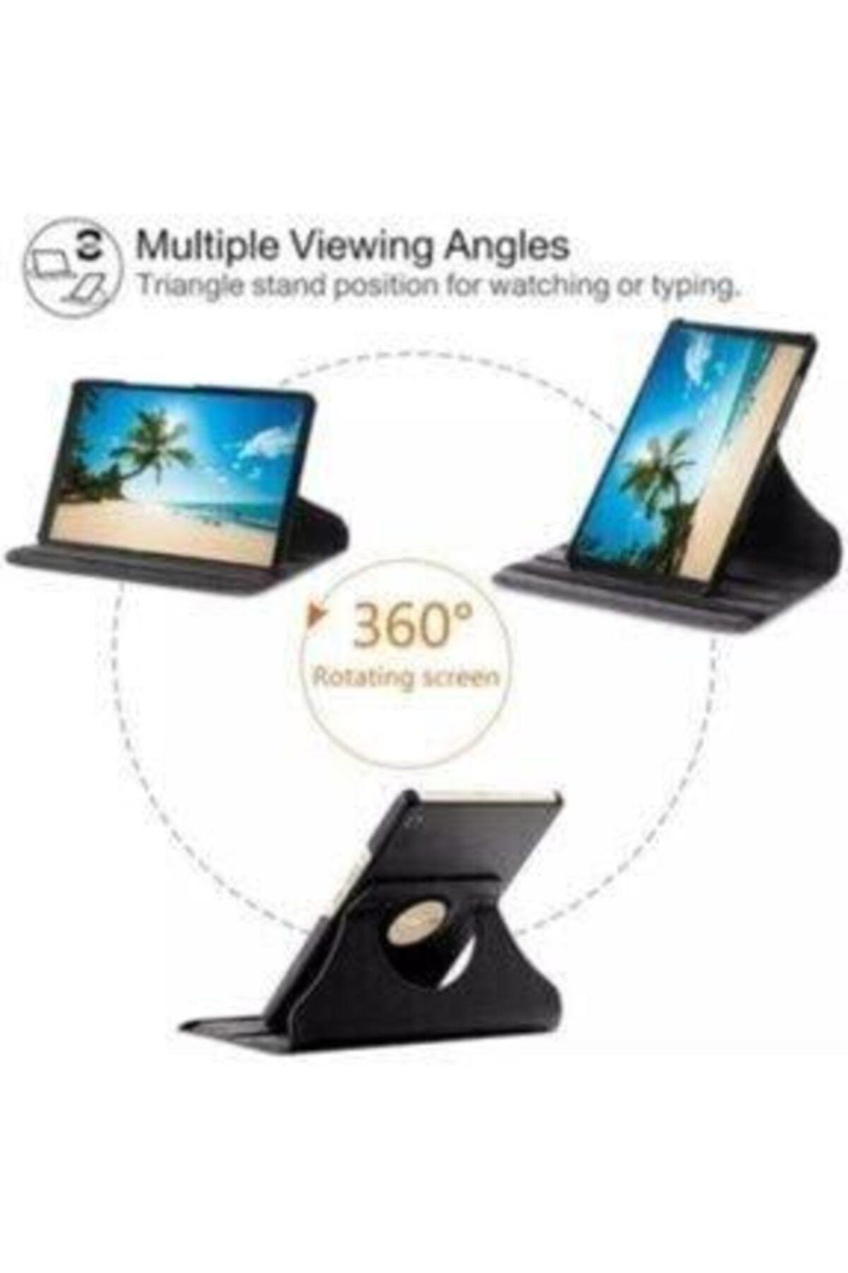 "E TicaShop Pembe Galaxy Tab A7 10.4"" Sm-t500 Sm-t507 Uyumlu Kılıf Set /Kılıf+ Temperli Cam + Kalem 2"