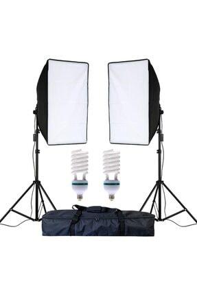 cazipshop Ev Ortamında Kamera Çekimleri Için 50x70 Softbox 2li Set 170watt Ampullü