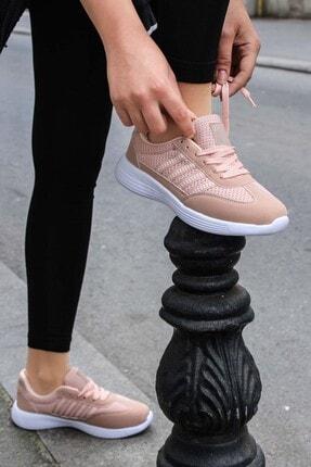 FAST STEP Pudra Beyaz Kadın Sneaker Ayakkabı 925za221