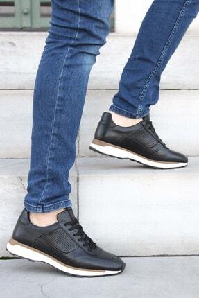 FAST STEP Hakiki Deri Siyah Erkek Sneaker Ayakkabı 723ma120
