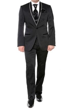 Efor 004 Slim Fit Siyah Black Takım Elbise