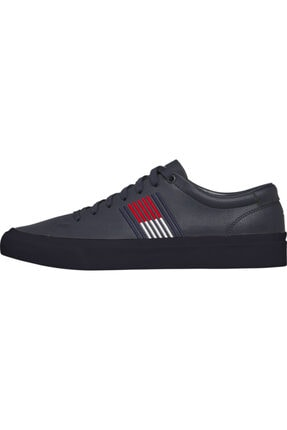 Tommy Hilfiger Erkek Th Corporate Deri Sneaker