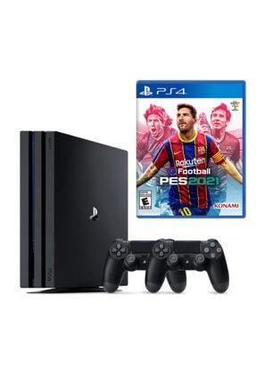 Sony Playstation 4 Pro 1 TB Konsol + 2. PS4 Kol + PS4 Pes 2021