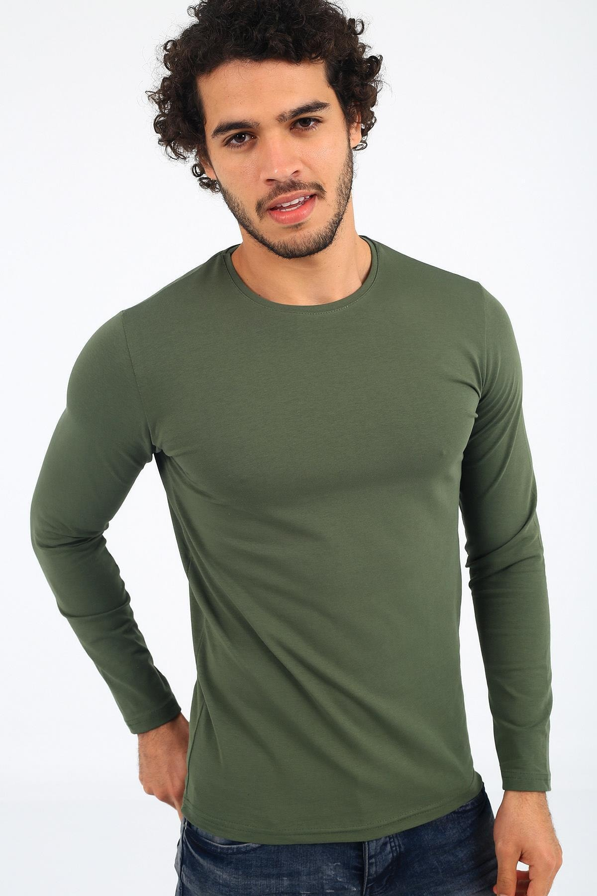 Oksit Mys Lion 4013 Slim Fit Likralı Uzunkol Basic Sweat 1