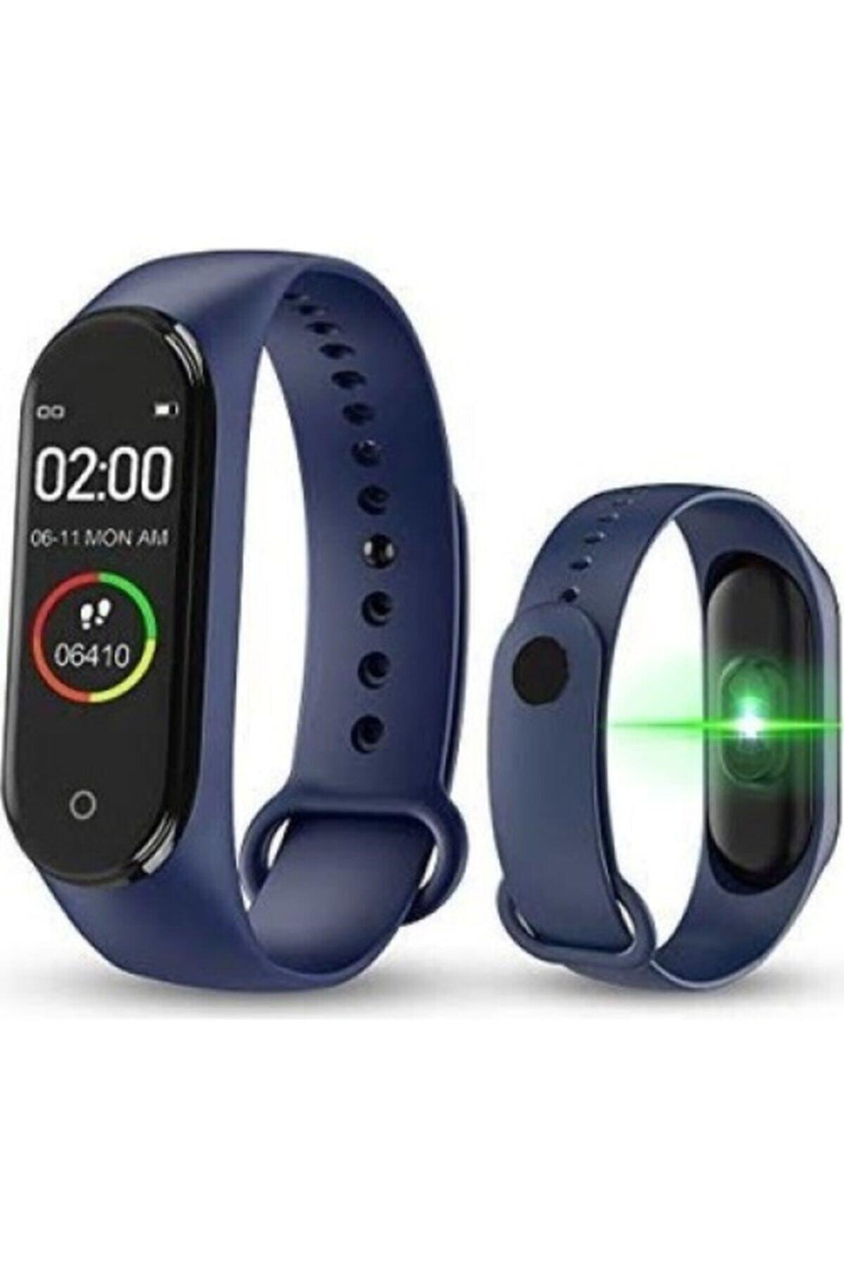 POLYGOLD M4 Akıllı Bileklik Bluetooth Mavi Nabız Ölçer Konuşabilme Özelliği 1