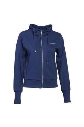 HUMMEL Kadın Mavi Zip Hoodie Brigi 921016-9968 Ceket