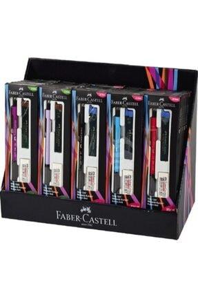 Faber Castell Grip 1345 0.7mm Kırmızı Mekanik Kurşun Kalem Seti (Silgi Ve Kalem Ucu Hediyeli)