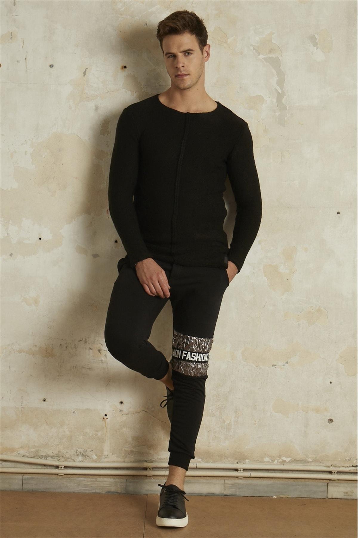 Efor Atp 011 Slim Fit Siyah Spor Pantolon 1