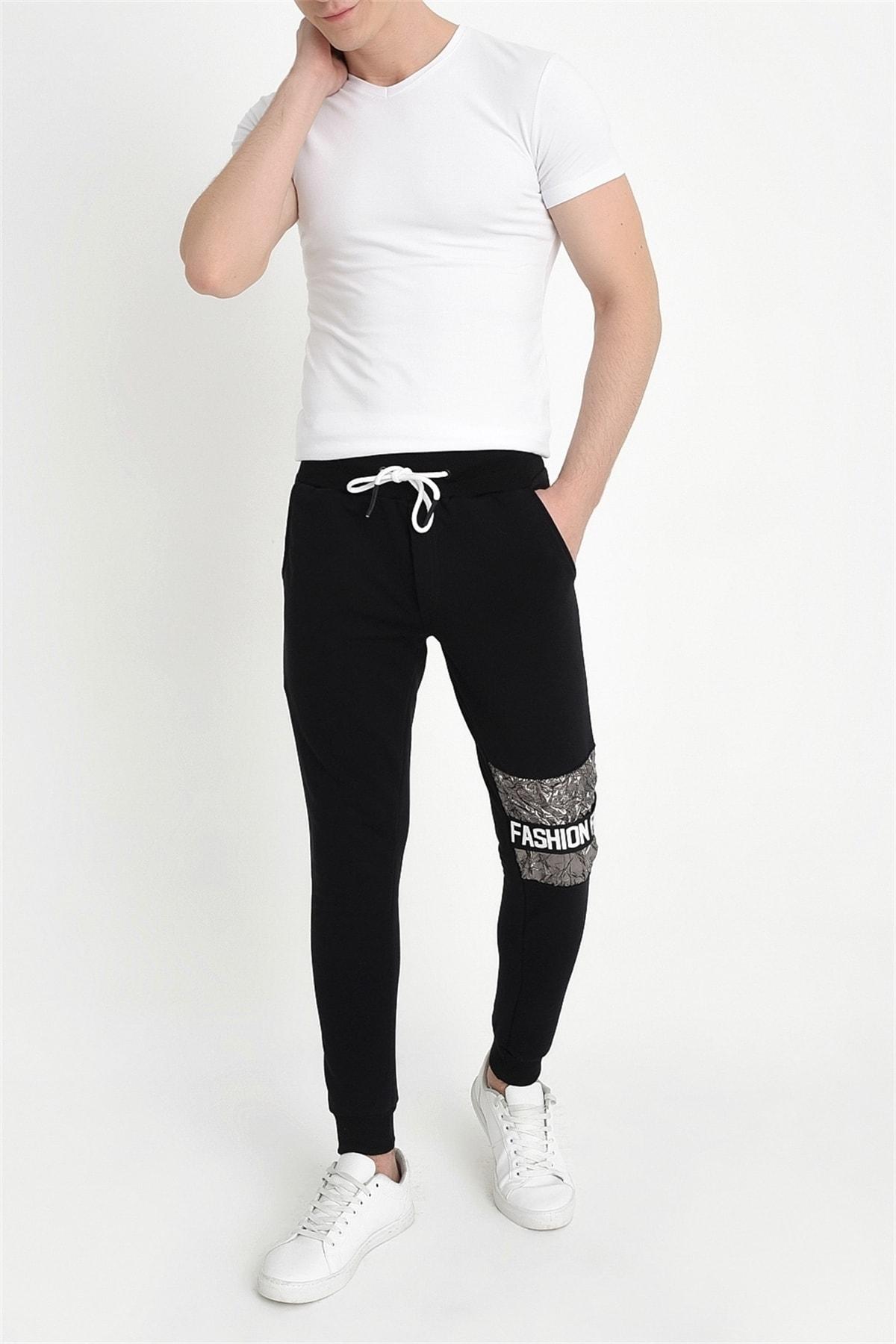 Efor Atp 011 Slim Fit Siyah Spor Pantolon 2