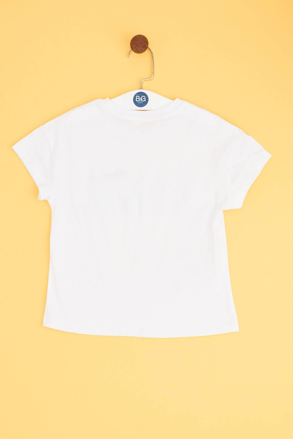 Tyess Kız Çocuk Beyaz T-shirt 2