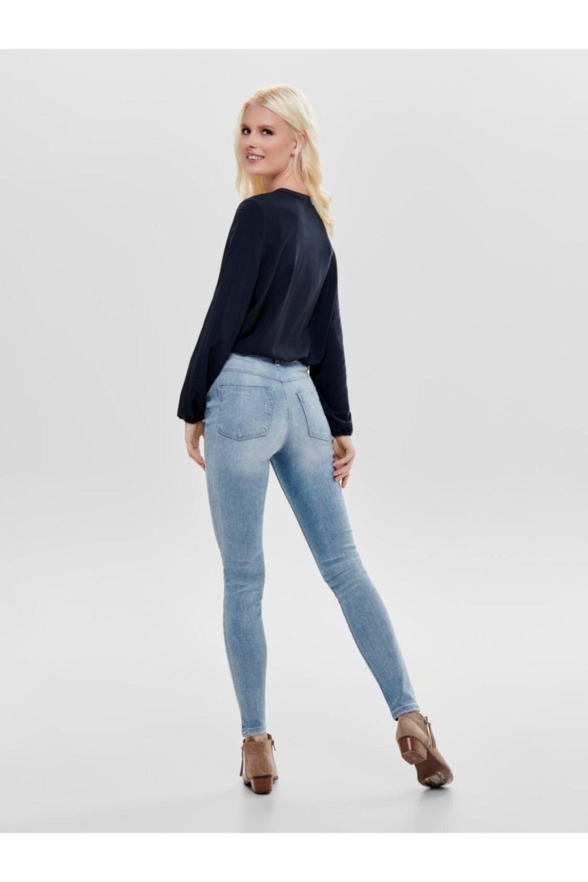 Only Kadın Jdy Jona Skınny High Light Blue Jean Pantolon 15171481 2