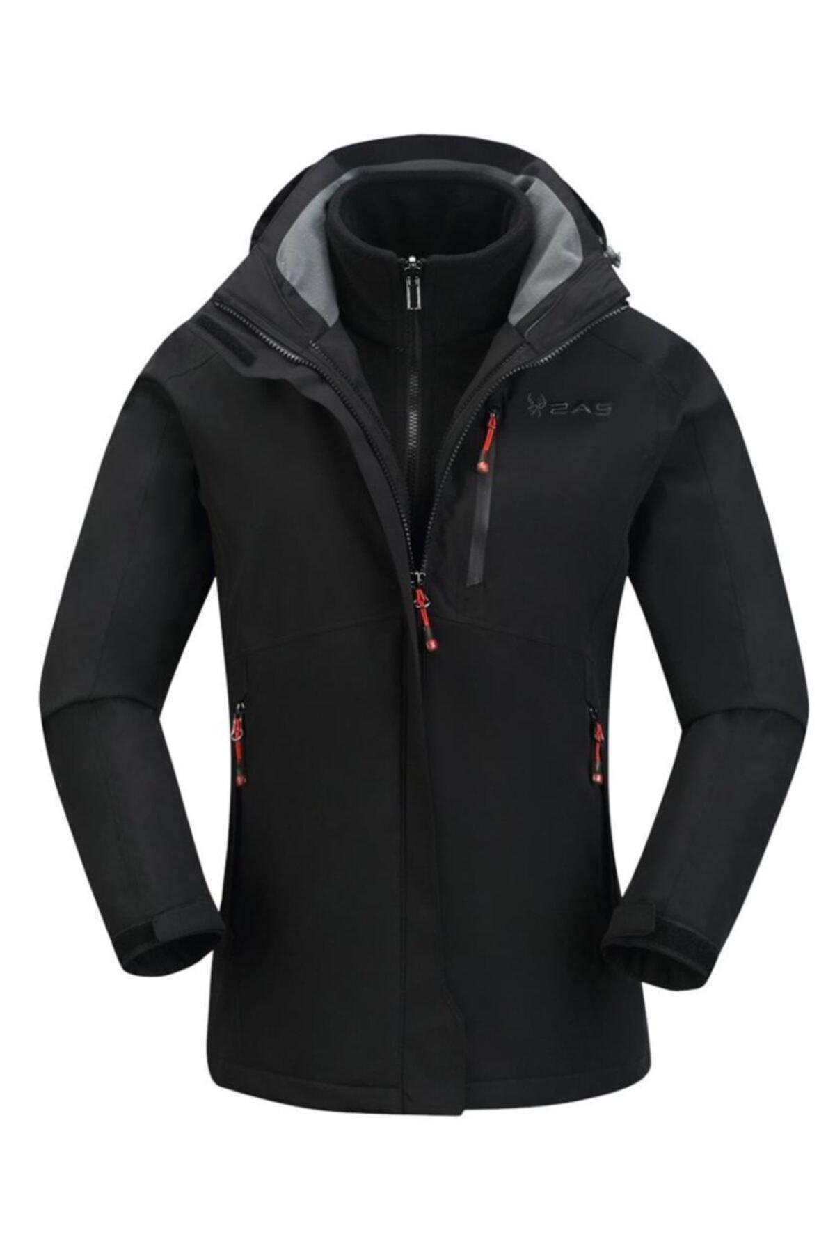 2AS Kadın Siyah Sparkle 3in1 Ceket 1