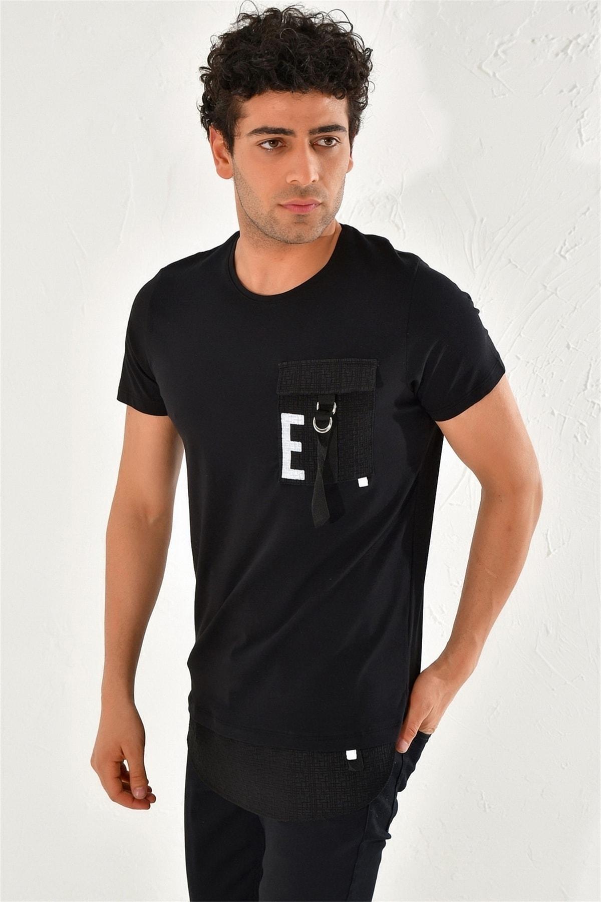 Efor Atş 016 Slim Fit Siyah Spor T-shirt 1