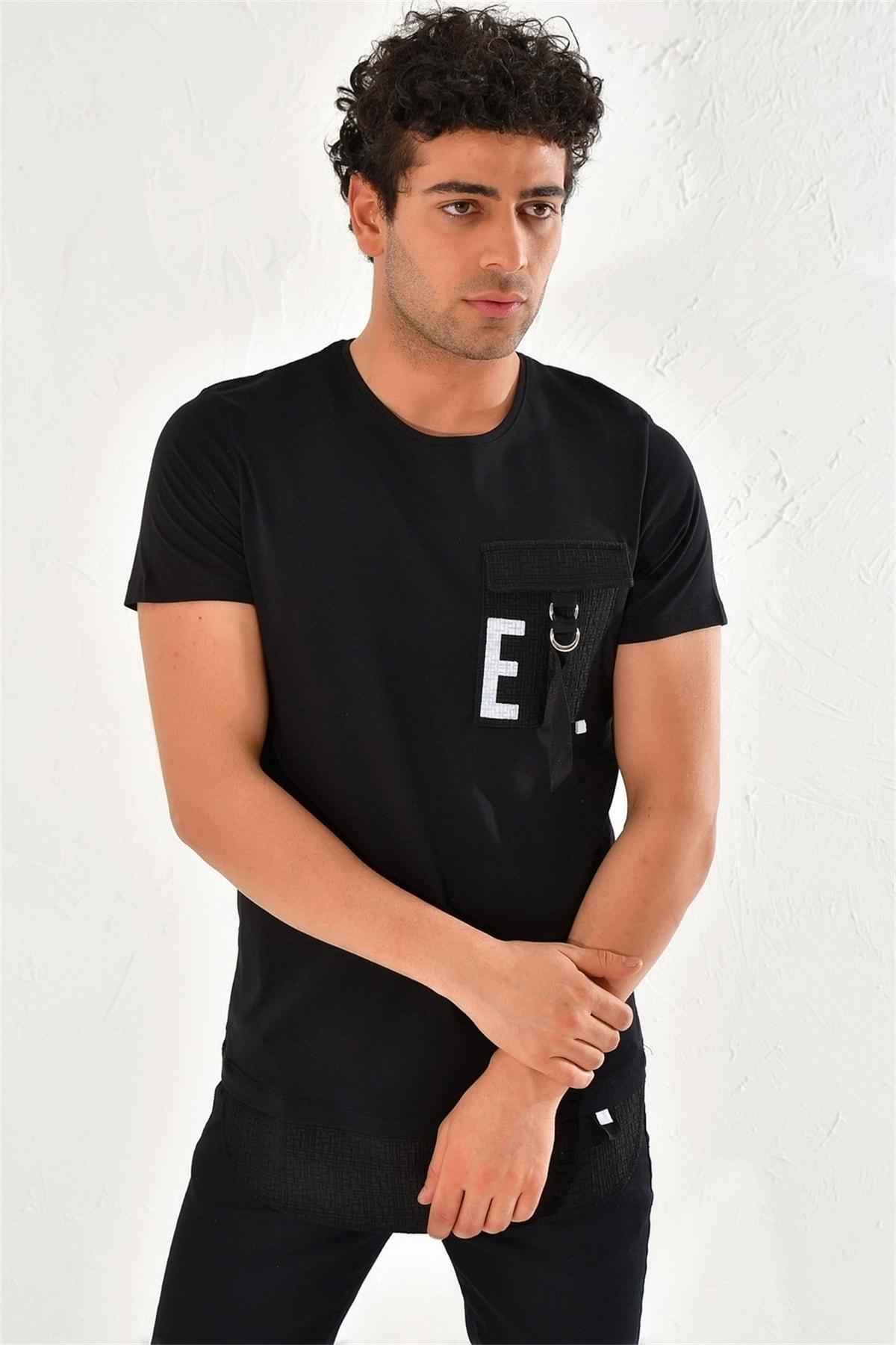 Efor Atş 016 Slim Fit Siyah Spor T-shirt 2
