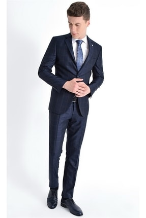 Efor 072 Slim Fit Lacivert Altro Takım Elbise