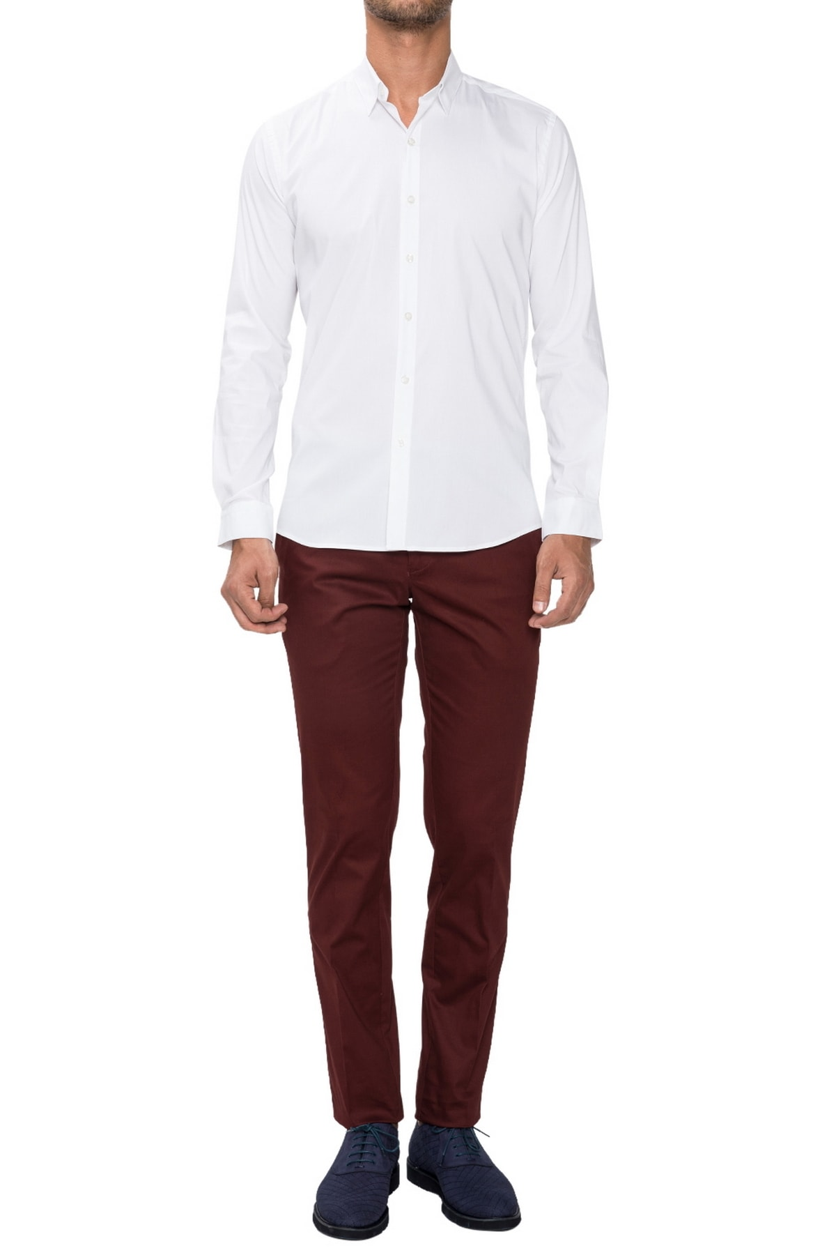 Efor P 1021 Slim Fit Bordo Spor Pantolon 1