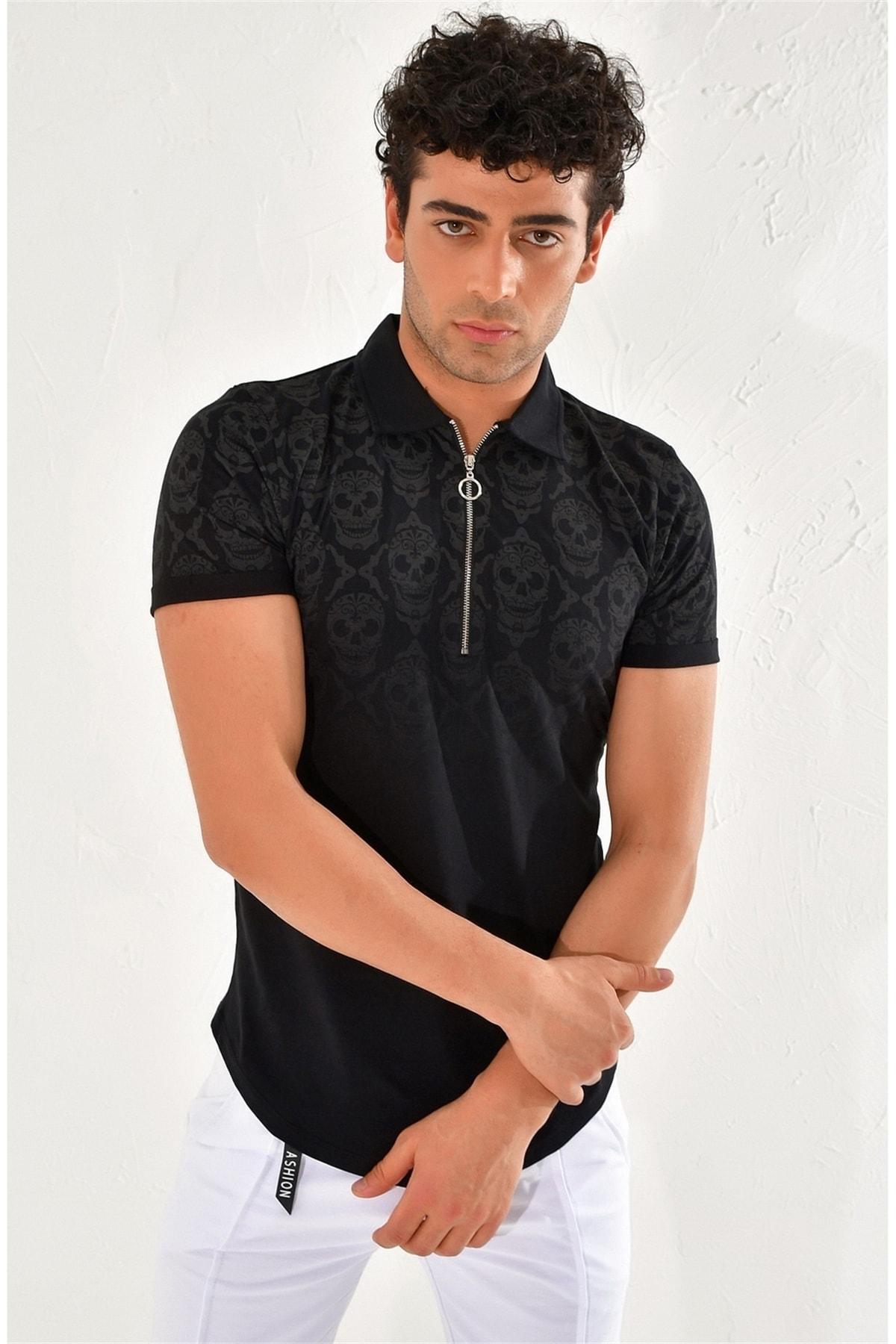 Efor Ts 758 Slim Fit Siyah Spor T-shirt 1