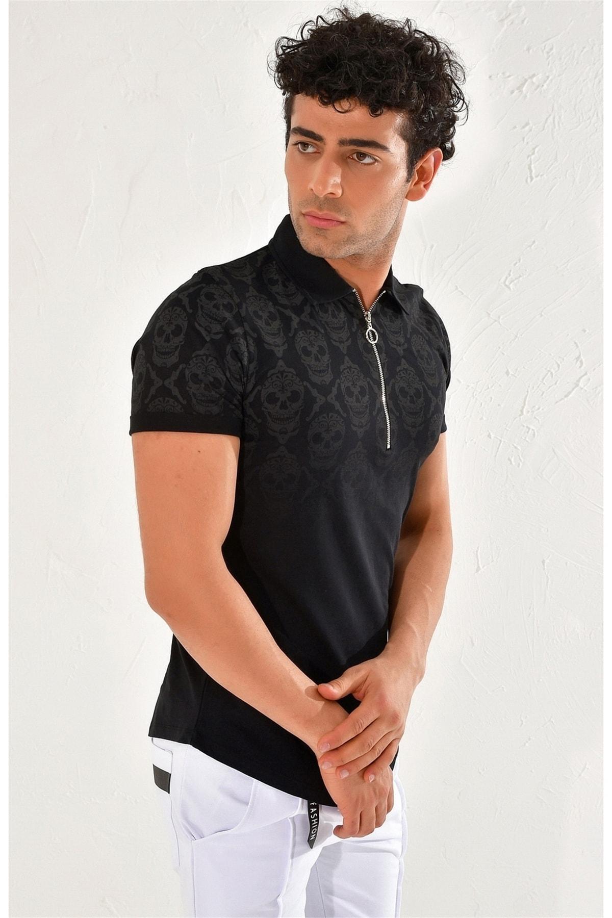 Efor Ts 758 Slim Fit Siyah Spor T-shirt 2