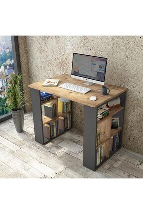 Yurudesign Bremen Çalışma Masası Kitaplık Çam-antrasit Br1-aa