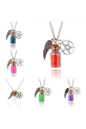 Köstebek Supernatural Wings And Pentagram And Salt Kolye