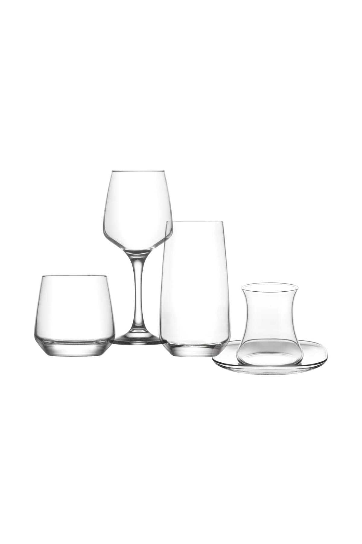 LAV Lal Çeyiz Seti 30'prç. Su Bardak - Bardağı - Meşrubat Bardağı 2